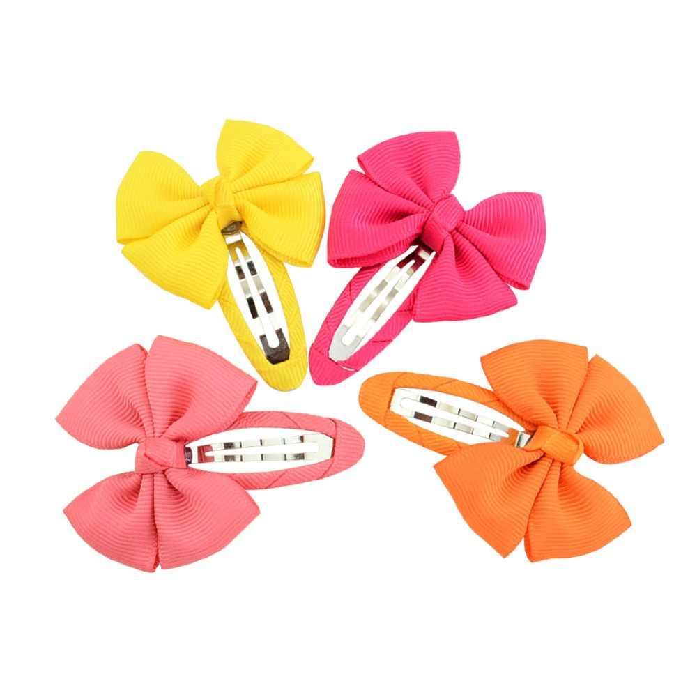 10 Uds Bowknot lindo bebé accesorios para el pelo de Color sólido horquillas para chica bebé, pinzas para el pelo, tocado pasadores de niñas regalo