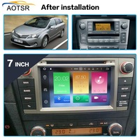 Android 8.0 Car DVD Stereo Multimedia Head unit For Toyota T27 Avensis 2009 2014 Auto PC Radio GPS Navigation Video Audio 4G RAM