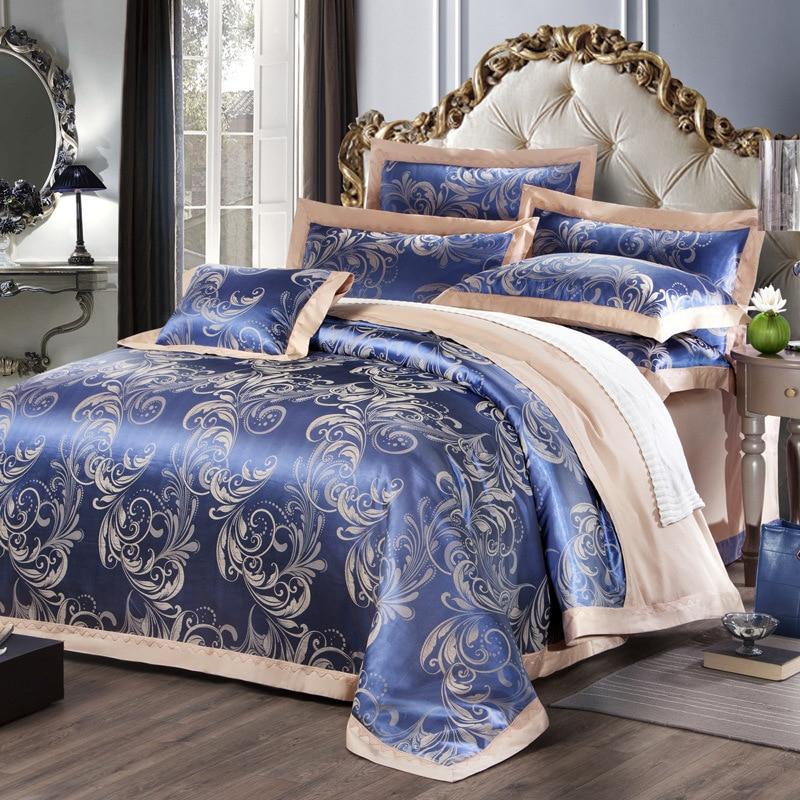 20 farben Home Textil Bettwäsche 4Pcs Set Nordic Moderne Satin Baumwolle Bettbezug Bett Blatt Kissen Abdeckung Set 2 größe-in Bettbezug aus Heim und Garten bei  Gruppe 1