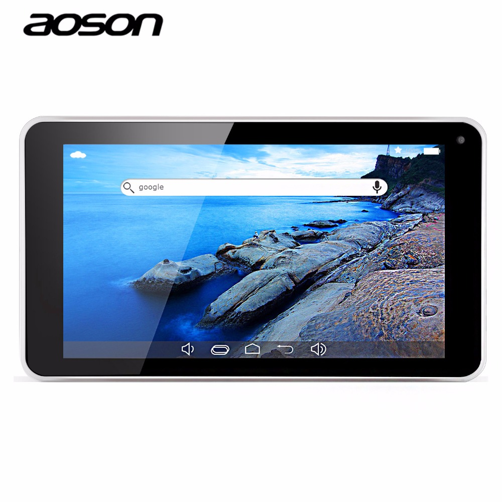 7 inch Tablet PC Aoson M751S-BS Quad Core Allwinner A33 Android 4.4 512MB/8GB 1024*600 Dual Cam WiFi Bluetooth Multi-Languages