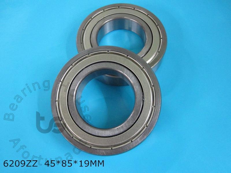 6209ZZ 1Piece bearing 45*85*19(mm) ABEC-5  metal sealing bearings free shipping 6209 6209Z 6209ZZ CHROME STEEL BEARING free shipping 4x7x2 5 metal shields bearings abec 7 stainless steel smr74 zz
