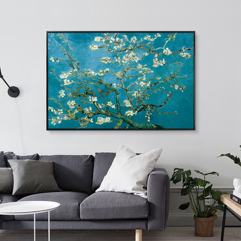Apricot Flower by Vincent Van Gogh Famous Artist Impressionism Art Print Poster Wall Picture Canvas Oil Painting Home Decor