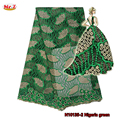 Mr.Z 2017 Tulle Lace Fabrics Polyester Nigerian Stones French Net Lace Fabric African Embroidery Organza Mesh Laces With Beads