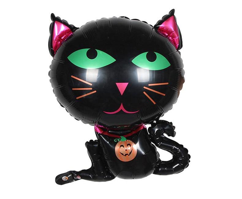 1 stück cartoon schwarz halloween katze mylar ballon helium ballons - Partyartikel und Dekoration