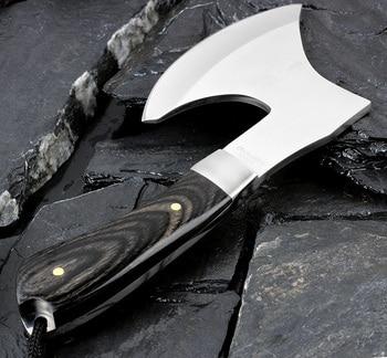 KKWOLF En Plein Air Portable Hache Camping Survie Tactique Hache Chop couteau d'os En Acier Inoxydable Fixe Couteau Sharp Utilitaire Multi Outil