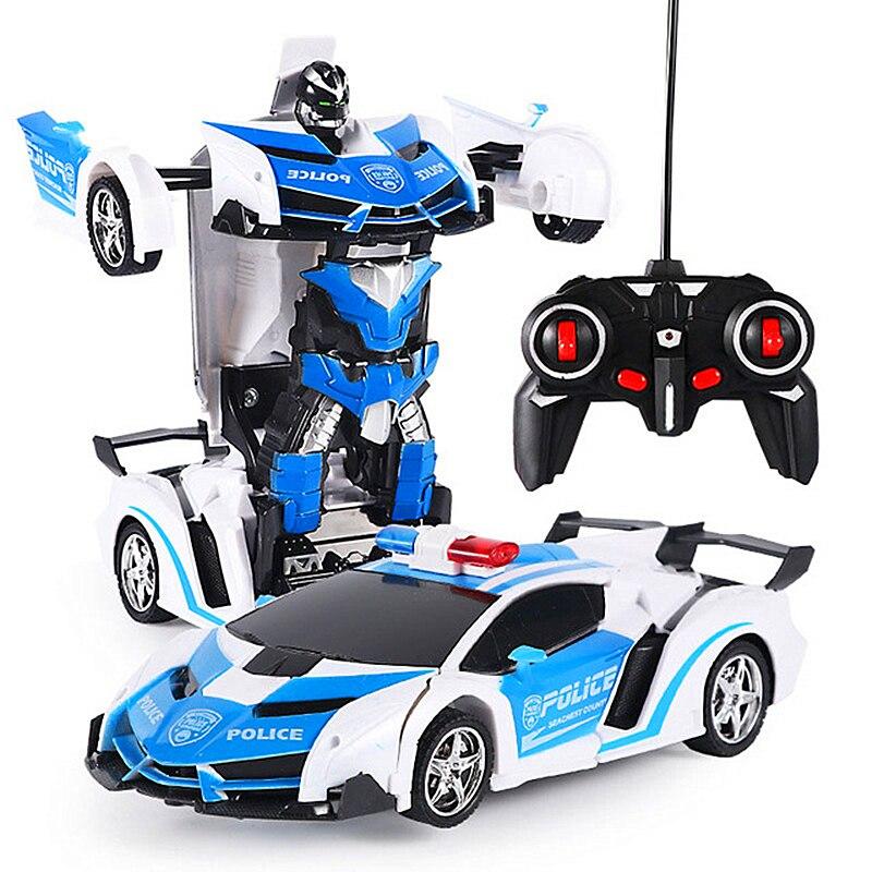 Transformation RC Car Remote Control Car Radio-Controlled Sport Car Drift Model Transform Toy  1:18 One-key