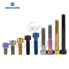 Wanyifa Titanium Bolts M8 x 20 25 30 35 40 45 60 70mm Allen Key Taper Head Bolt Screw for Bicycle Motorcycle Car