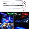 Universal Impermeable LED Flexible Estupendo Coche Activado Luz Interior Luces de Circulación Diurna Suave Tiras Blanco Azul Rojo Verde