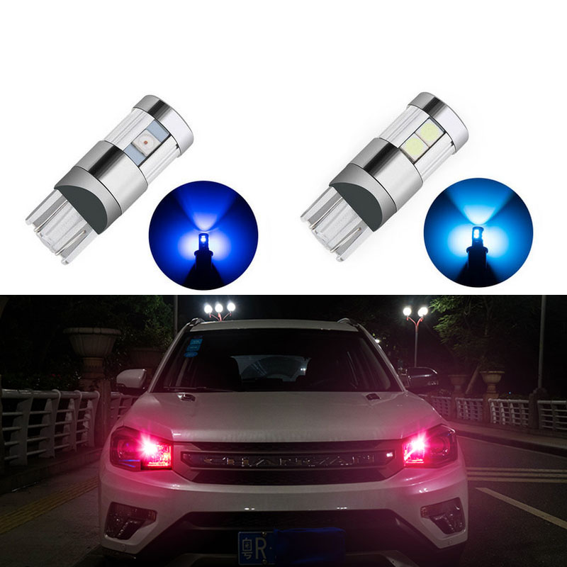 2x t10 led Bulb w5w LED Car DRL 5/9 SMD For Audi A3 A4 B6 B8 B5 A6 C5 C6 TT Q5 Q7 Q3 A5 A8 A7 A1 R8 8P 8L 8V R8 RS S line