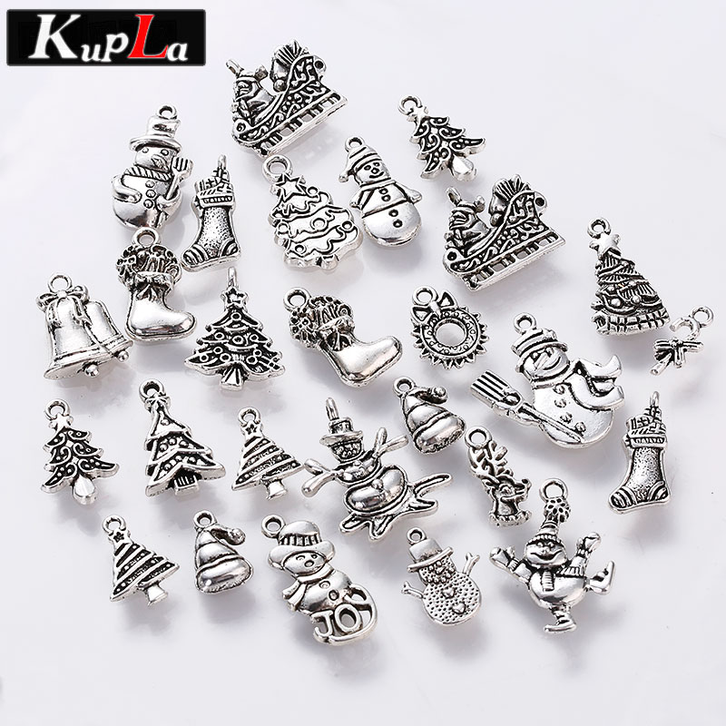 Vintage metal christmas charms for jewelry making diy christmas vintage metal christmas charms for jewelry making diy christmas gift pendant charms jewelry handmade crafts 100pcslot c5093 in charms from jewelry aloadofball Choice Image