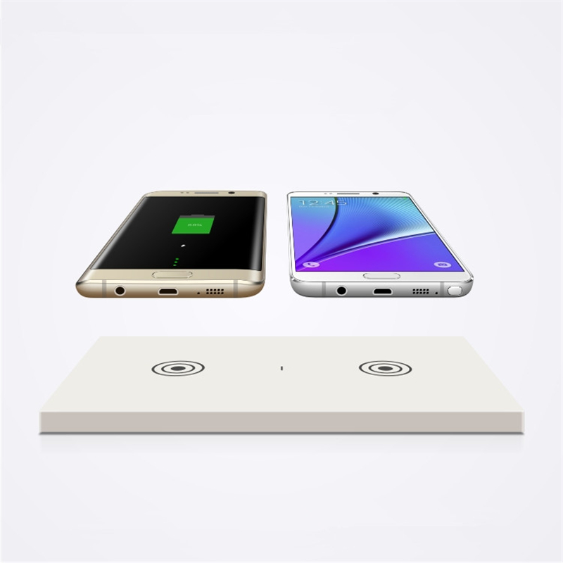 Qi Standard Wireless Charging Receiver Twin Charger Pad For Two Models For Samsung IPhone Both Mobile