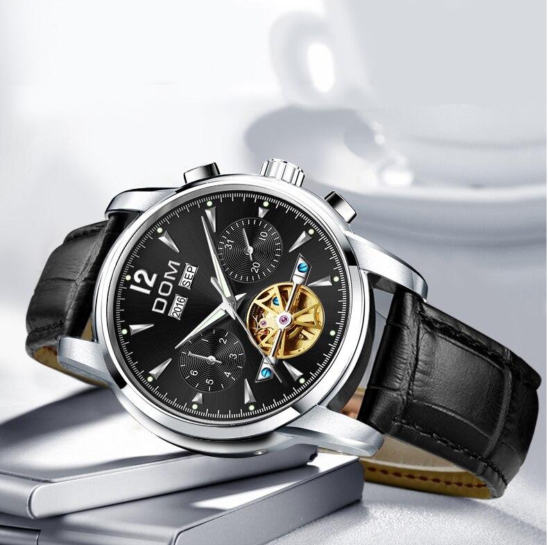 relógios homem à prova dwaterproof água preto