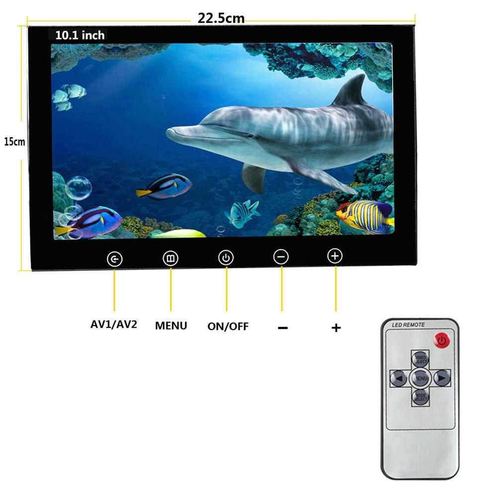 10 zoll 50 mt 1000TVL Fisch Finder Unterwasser Angeln Kamera 15 stücke Weiß LEDs + 15 stücke Infrarot Lampe Für eis/Meer/Fluss Angeln