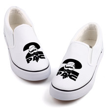 Men Boys Streetwear Canvas Flats Graffiti Hip Hop Rock Star Tupac Casual Shoes Custom 2Pac Designer Couples Loafers Slip On(China)