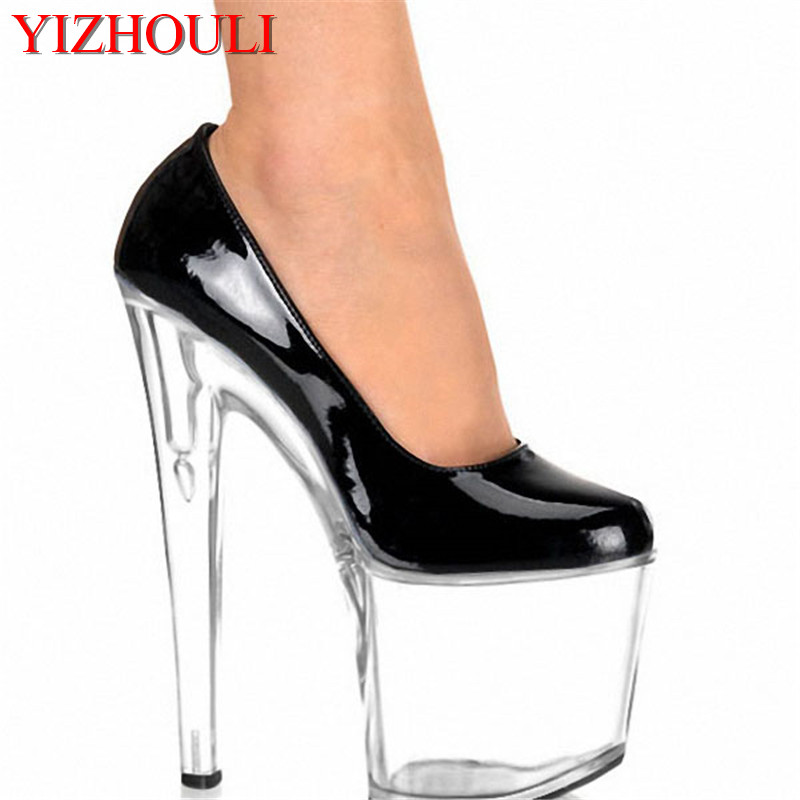8 Inch Women Mary Jane Platform PU Pumps 20cm Sexy Bottom High Heels Multi Colo Shoes Exotic Dancer High-heeled Shoes 20cm sexy ultra high heeled platform shoes performance shoes platform black pu leather single shoes 8 inch fashion crystal shoes