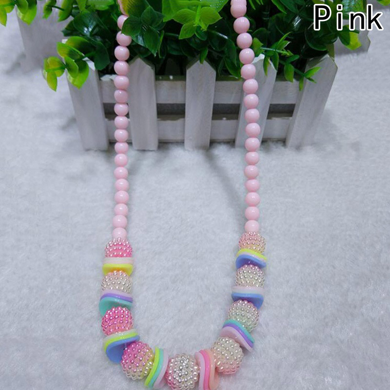 Colored Beads Necklace With Layer Beads For Girls Resin Necklace For Girls Jewelly Accessories