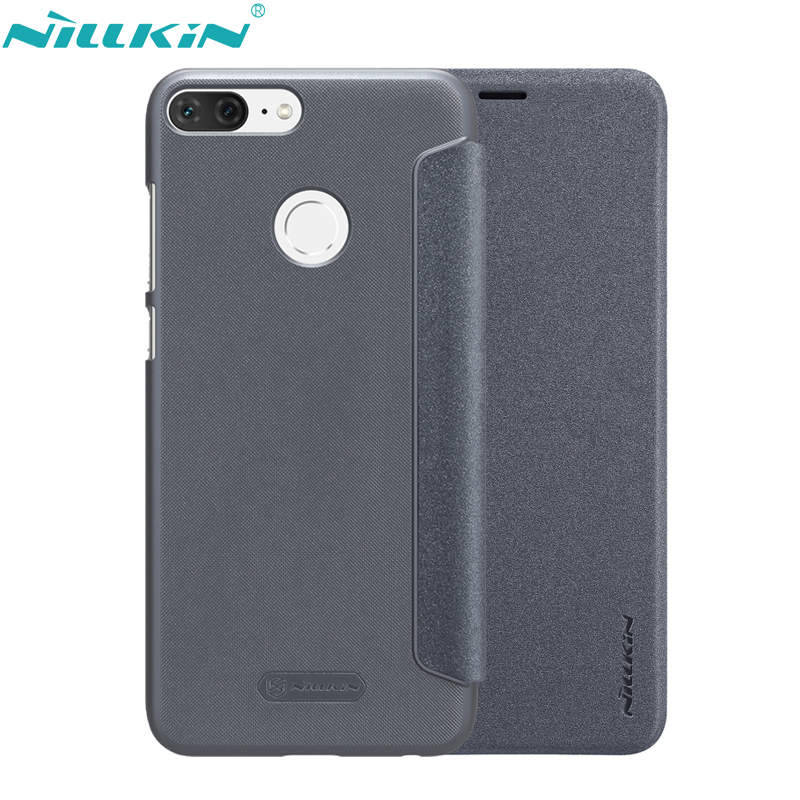 NILLKIN Phone Cover For Huawei Honor 9 Lite Case Honor9 Lite PU Leather Case Hard PC Frosted Back Cover Flip Mobile Phone Cases