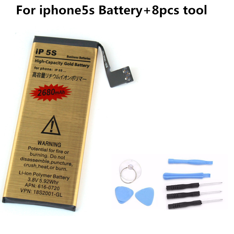 Accumulator-Battery Internal-Replacement Lithium-Ion Apple IPhone 5s For With Tools Rechargeable