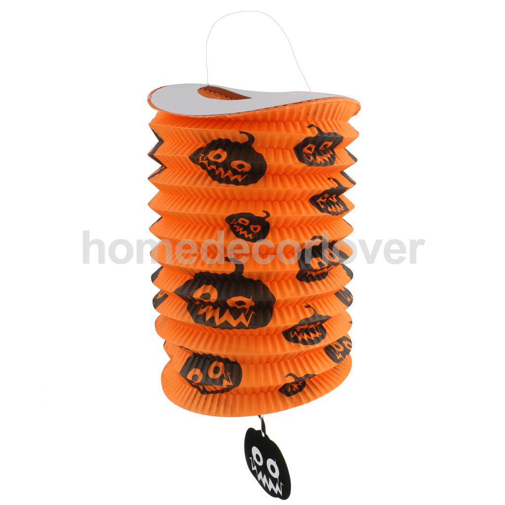 Vintage halloween paper decorations - Vintage Creative Halloween Festival Party Decor Pumpkins Diy Folding Up Paper Lantern China Mainland