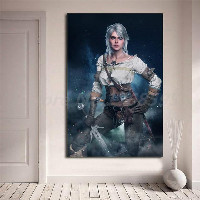 Ведьмак 3 Дикая Охота Ciri обои холст картины печати Гостиная домашнего декора современного искусства стены маслом плакат картин