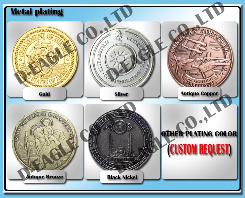 Питания Медь покрытием ВВС США a-10 ВВС США Военная Униформа вызов монета/медаль 5045