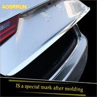 Material da tampa da cauda molding AOSRRUN Artigo convertido tronco aço inoxidável brilhante lantejoulas Para Lexus IS250 IS200