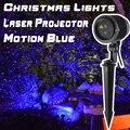 Laser azul Do Feriado do Natal Luz Do Projetor Ao Ar Livre Decorações Do Jardim da Casa de Show Efeito De Parede Em Movimento