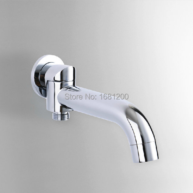 Solid Brass Water Outlet Spout 180 degree revolve Wall Mounted Tap ...
