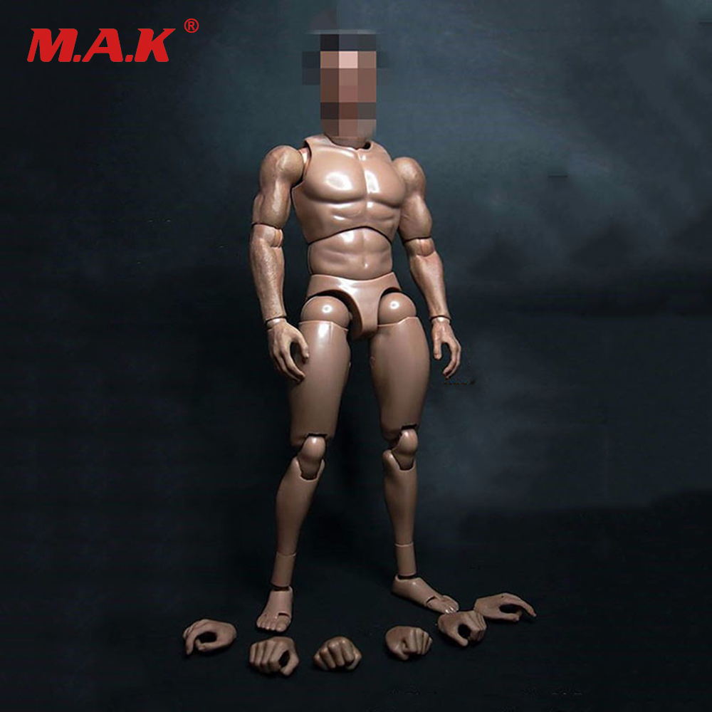 12 Male Muscular Body Figure No Neck For 1/6th Scale Man Head Sculpt Collectible Toys In Stock 1 6 head sculpt male figure doll guardians of the galaxy star lord head carving 1 6 action figure acccessories juguete toys gift