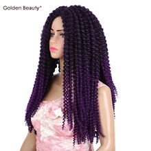 18Inch Jamaican Bounce Crochet Hair Curl Crotchet Synthetic Hair Extensions Heat Resistant Ombre Braiding Hair Golden Beauty