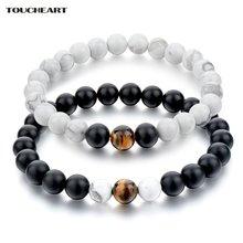 Toucheart винтажные натуральные белые и браслеты из черного