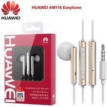 Huawei am116 Металл вкладыши наушники с микрофоном объем управление уха телефоны для Huawei P9 P10 Plus динамик fone де ouvido ecouteur