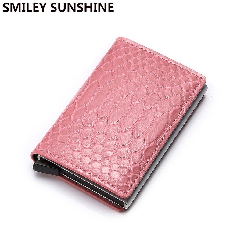 DIENQI Rfid Card Holder Wallets Slim Mini Pink Wallet Purses Money Bag Ladies Short Thin Wallet Leather Portmonee Women Portfele