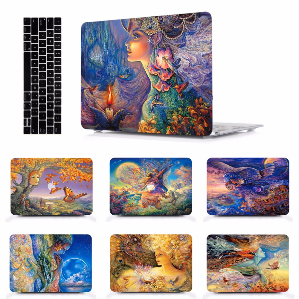 """Laptop Case Notebook Tablet Shell Keyboard Skin Cover Bag Pad Sleeve Fit 11 12 13 15"""" Macbook Pro Touch Bar Air A1466 A1369 ST