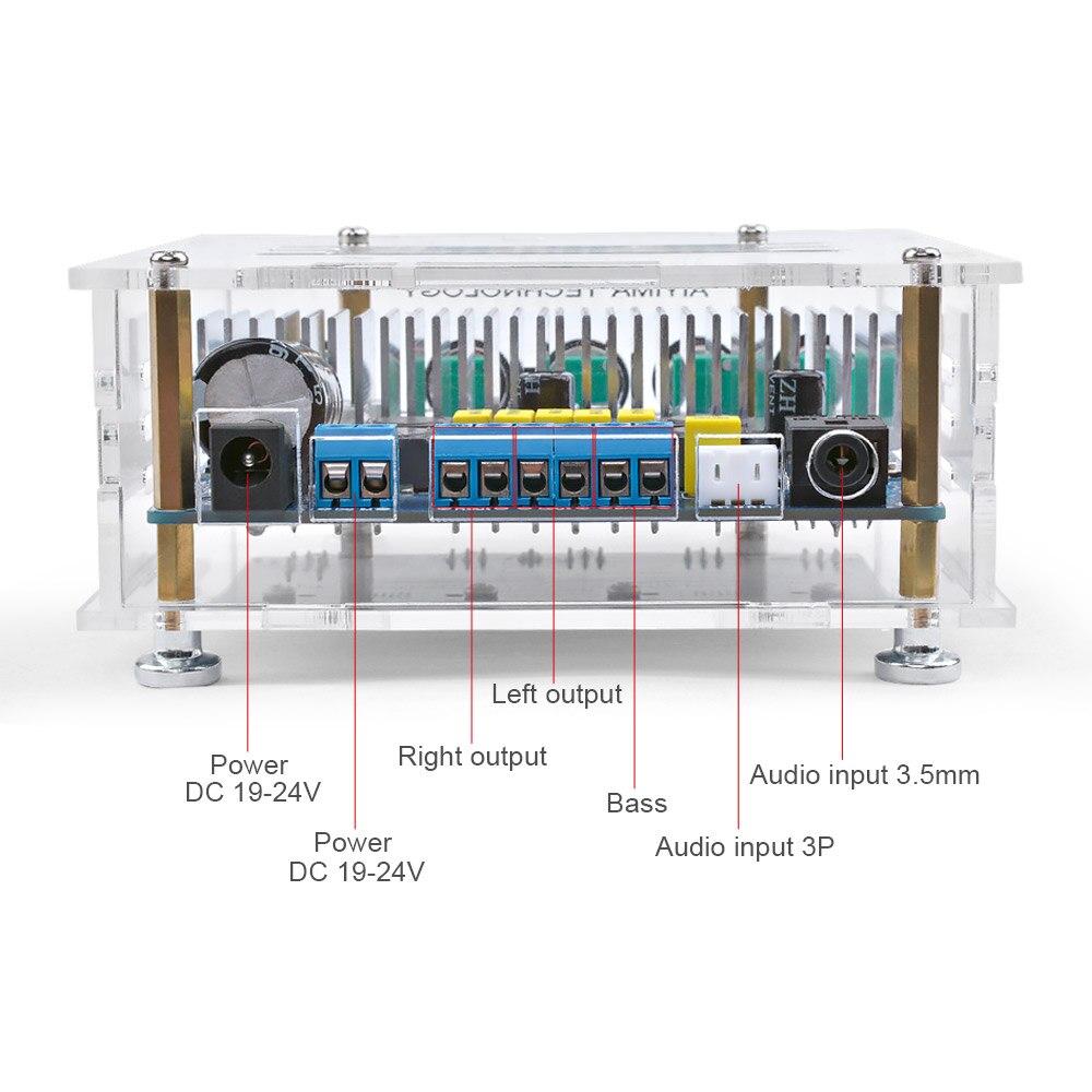 AIYIMA TPA3116 сабвуфер Bluetooth усилитель цифровая аудио Плата 2,1 канал Bluetooth 4,2 усилитель мощности плата 50Wx2 + 100 вт DIY