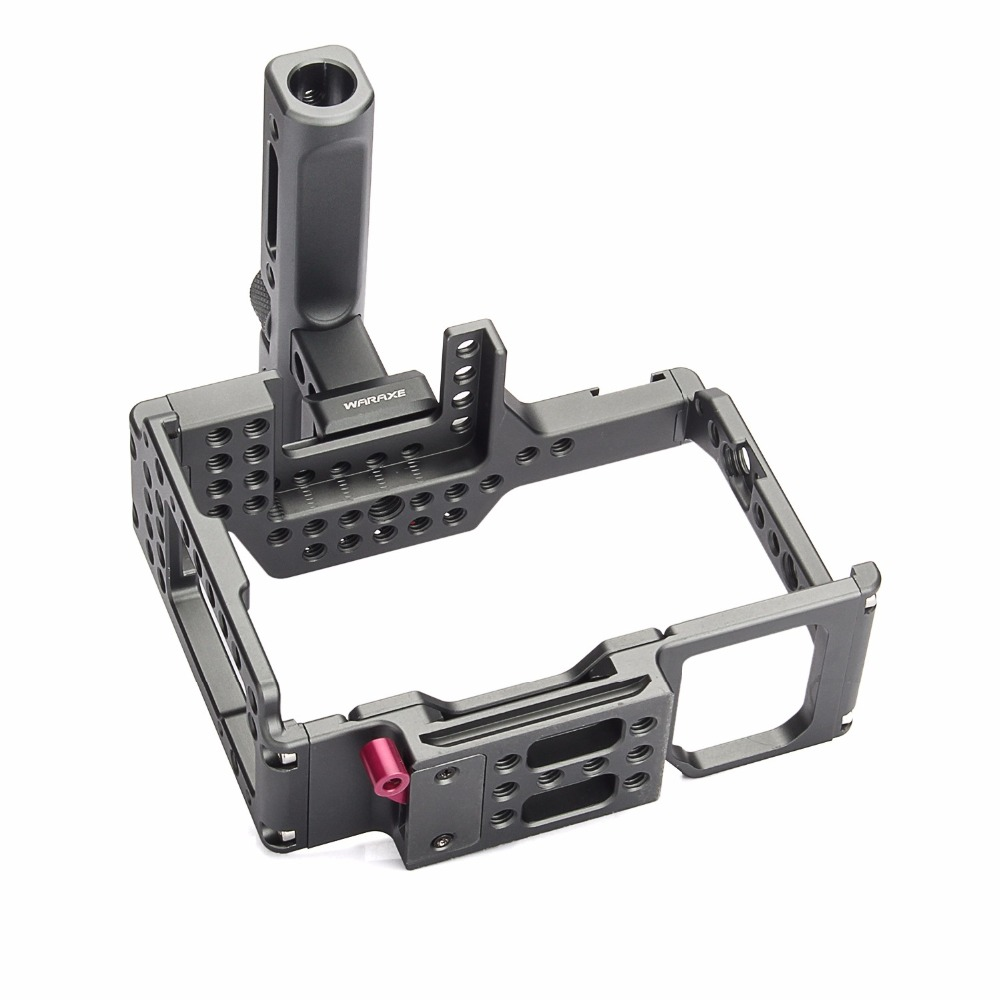 productimage-picture-waraxe-a7-kit-camera-cage-built-in-quick-release-fits-arca-swiss-for-sony-a7-a7r-a7s-a7-ii-a7r-ii-a7s-ii-with-nato-rail-handle-grip-and-1-4-98416