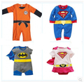 Новорожденный Goku супермен бэтмен ползунки для девочек мальчики мультфильм комбинезон детские kleding jurkjes товары одежда , костюмы приданое