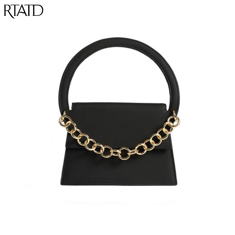 RTATD 2018 New Classic Scrub Tote With Chain Crossbody Bags Women Split Leather Handbags Lady Messenger Bag For Female B136 2017 new classic messenger bags with metal ring popular tote lady split leather handbags women chain shoulder bags bolsas qn262