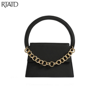 RTATD 2018 New Classic Scrub Tote With Chain Crossbody Bags Women Split Leather Handbags Lady Messenger Bag For Female B136