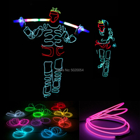 Novelty Illuminated Light Up Men Clothing Chinese Style Great Sage Equalling Heaven Cosplay Costume EL Wire Glowing Clothing