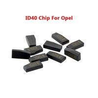 OkeyTech 5/10/50 ID40 pçs/lote Chip de Chave Do Carro Chip para Auto OPEL Crypto Transponder Chip Philip-s TP09 ID40 Transponder Chip de Carbono