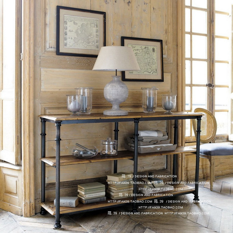 american country wrought iron wood sideboard do the old wood vintage antique console table bookcase shelf wooden sideboard furniture