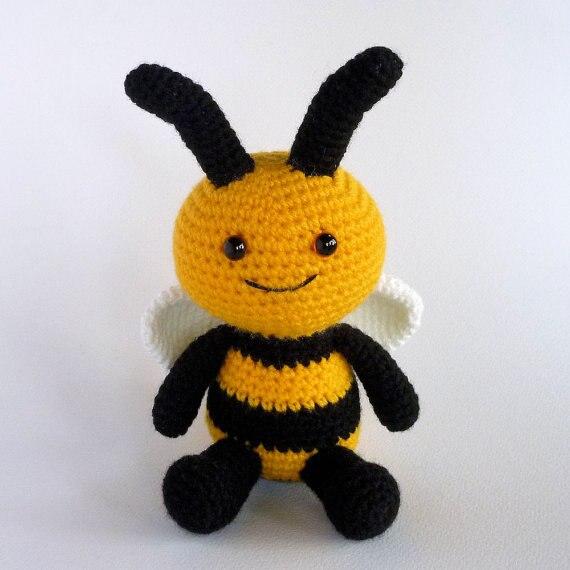 Amigurumi Bee Maya Free Crochet Pattern - Crochet.msa.plus | 570x570
