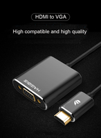 HDMI To VGA Adapter Digital To Analog Video Audio Converter Cable HDMI VGA Connector For Xbox