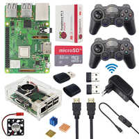Raspberry Pi 3 Model B+(Plus) Game Kit + Wireless Gamepads + 32GB SD Card +  3A Power Adapter + HDMI + Acrylc Case for RetroPie