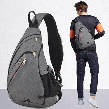 c8e538f140ea Mixi мужской рюкзак на одно плечо сумка для мальчиков Рабочая дорожная  универсальная модная сумка для школьников Университет 2019 новый дизайн