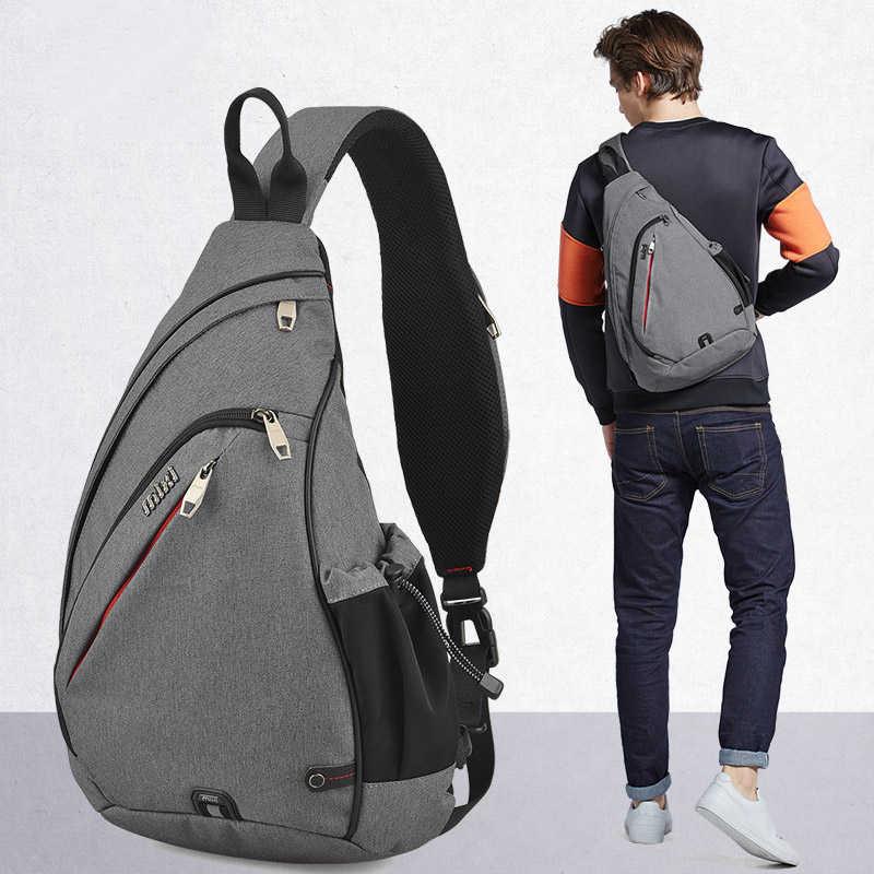 Mixi мужской рюкзак на одно плечо сумка для мальчиков Рабочая дорожная универсальная модная сумка для школьников Университет 2019 новый дизайн