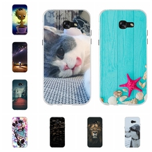 For Samsung Galaxy A5 2017 Case Soft TPU Silicone A520F Cover Dog Patterned Coque