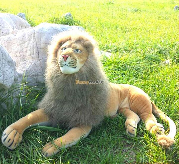 Fancytrader 47'' / 120cm Giant Plush Stuffed Simulated The Lion King Simba Toy, Best Collection and Gift, Free Shipping FT50178 fancytrader 47 120cm giant plush soft cute stuffed animal dinosaur toy great gift for kids free shipping ft50264