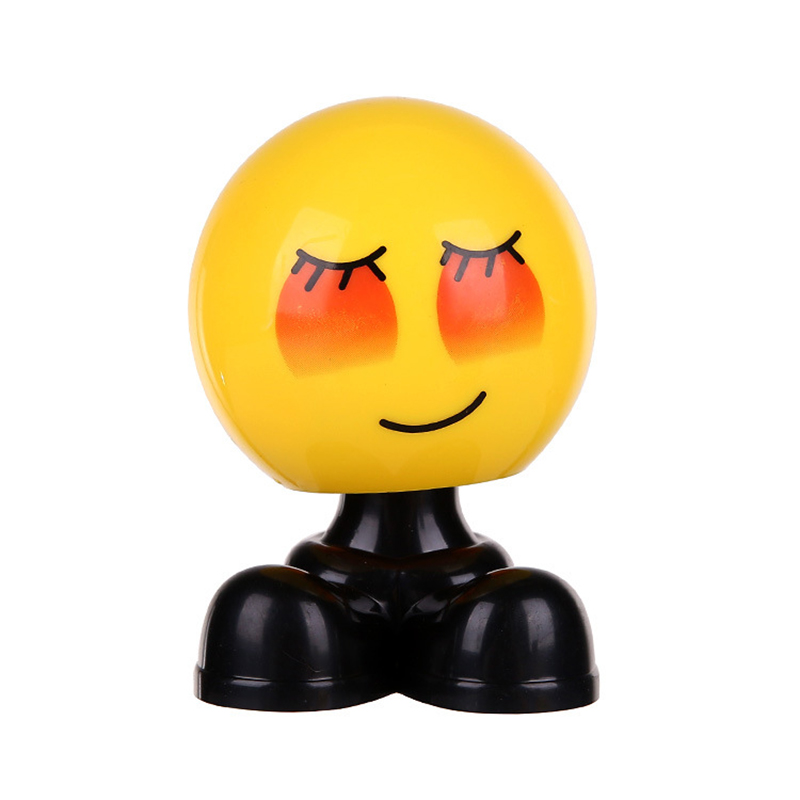Creative Car Shaking Head Ornaments Cute Personality Loading Car Emoticon Bag Jewelry Ornaments   girl car accessories-in Ornaments from Automobiles & Motorcycles